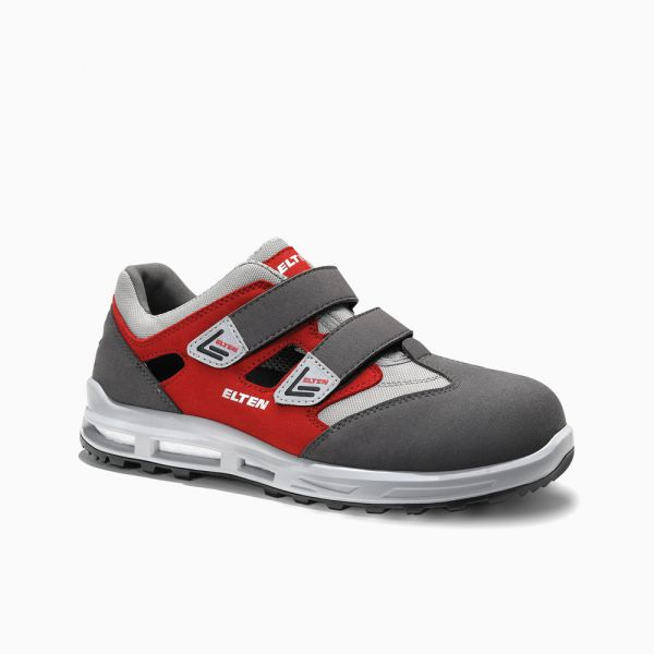 ELTEN Sicherheitssandale TRAVIS grey-red Easy ESD S1